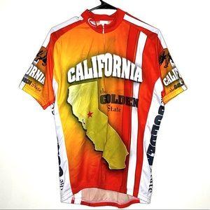 California Golden State Printed Biker Shirt Size L